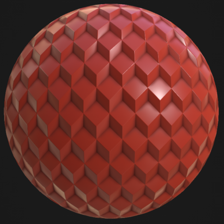 Seventies cubic pattern sphere