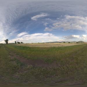 Auvergne field panorama
