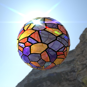Stain glass sphere