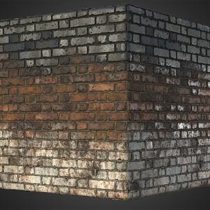 Brick wall soot cube
