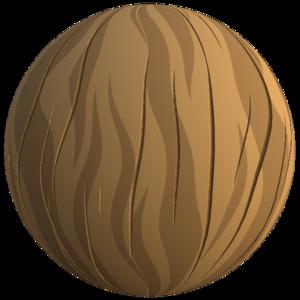 Flat styled wood