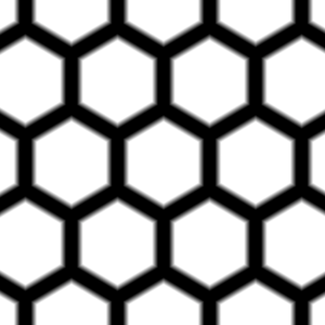 Hexagonal pattern preview