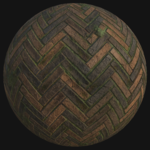 Herringbone brick floor   procedural