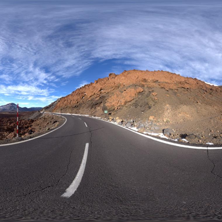 Thumb road in tenerife mountain