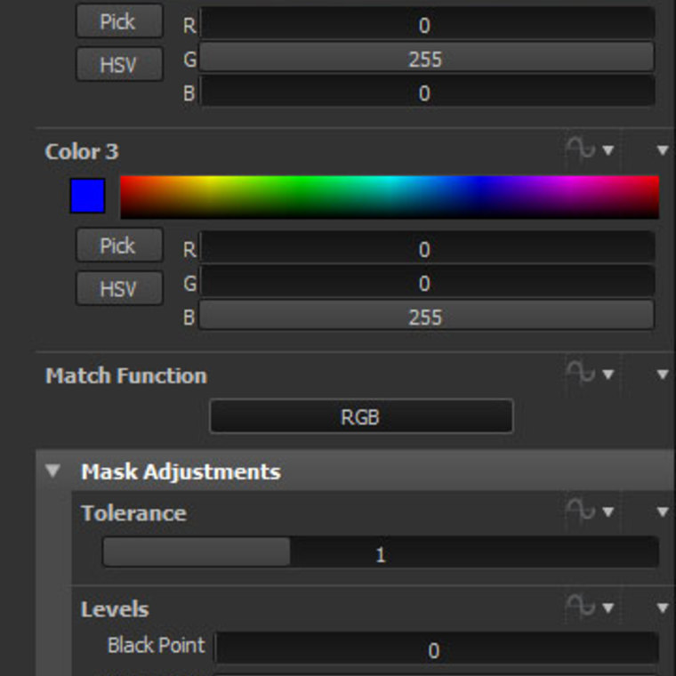 Wf colormask params
