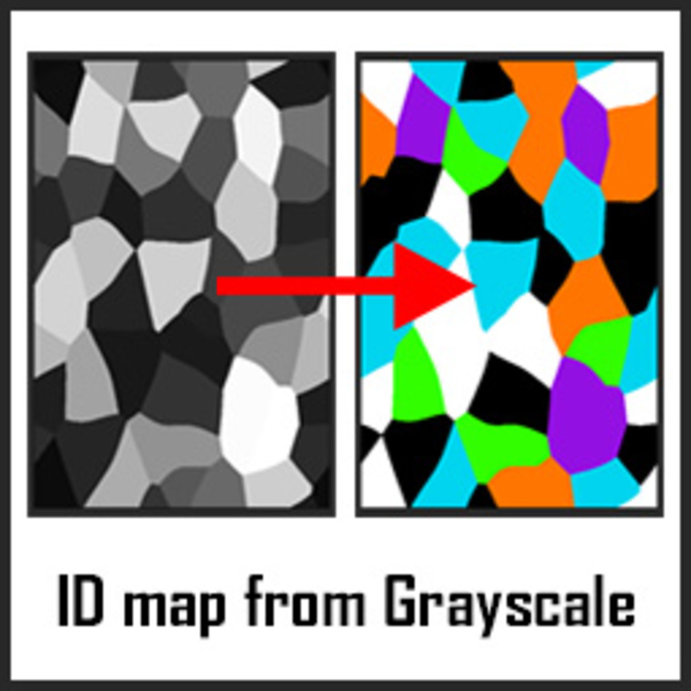 Id map from grayscale