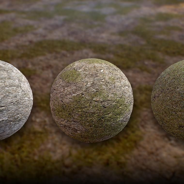 Rockygrass set terrain renders 01