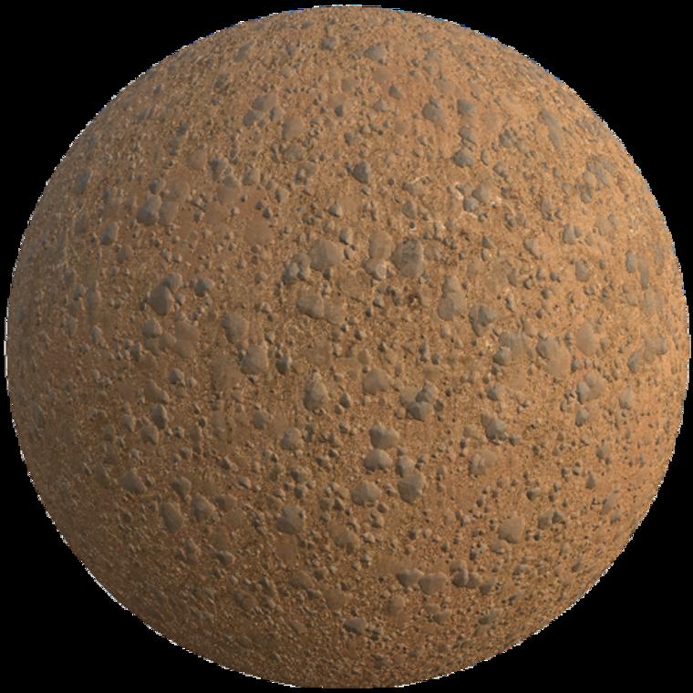 Martian rocky ground