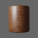 Wood chocolate cylinder render