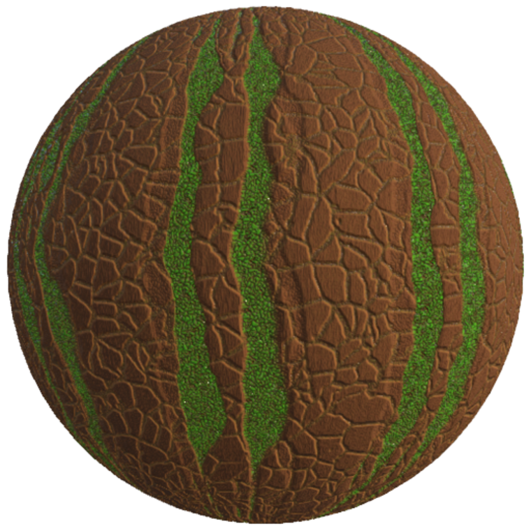 Mossy stylized tree bark