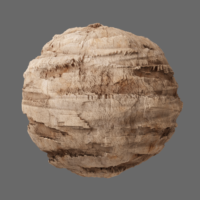 Desert cliff sphere render