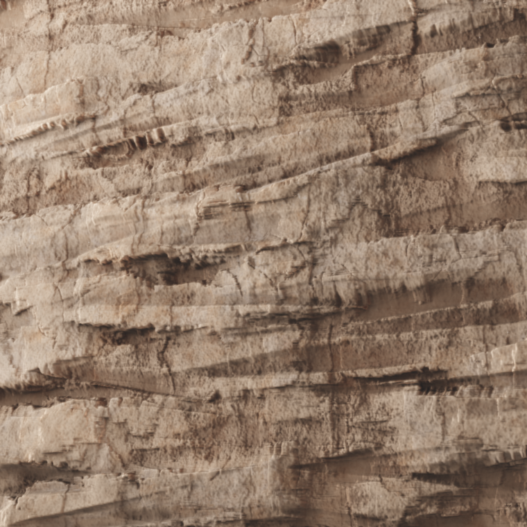 Desert cliff plane render