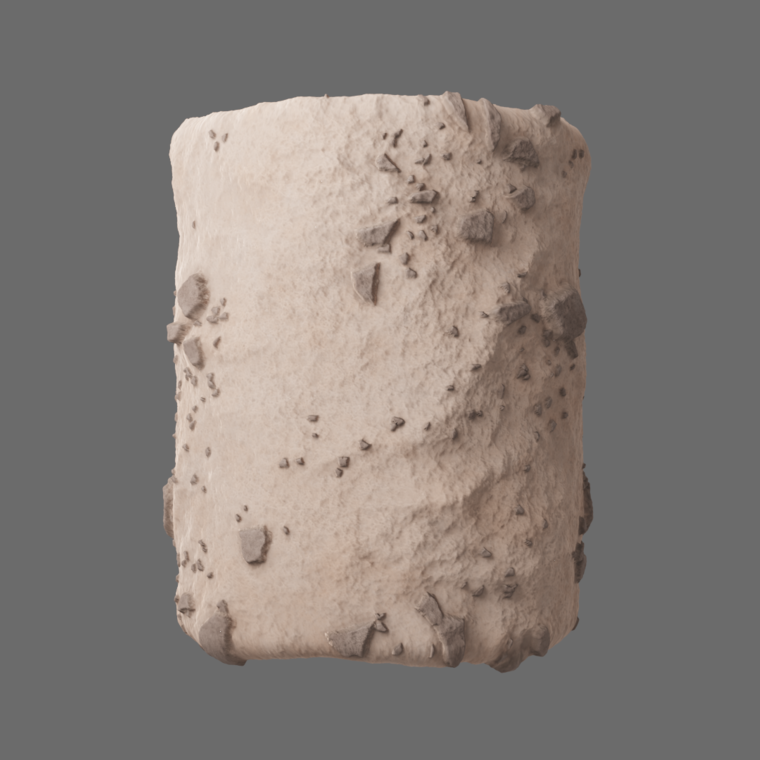 Desert ground cylinder render