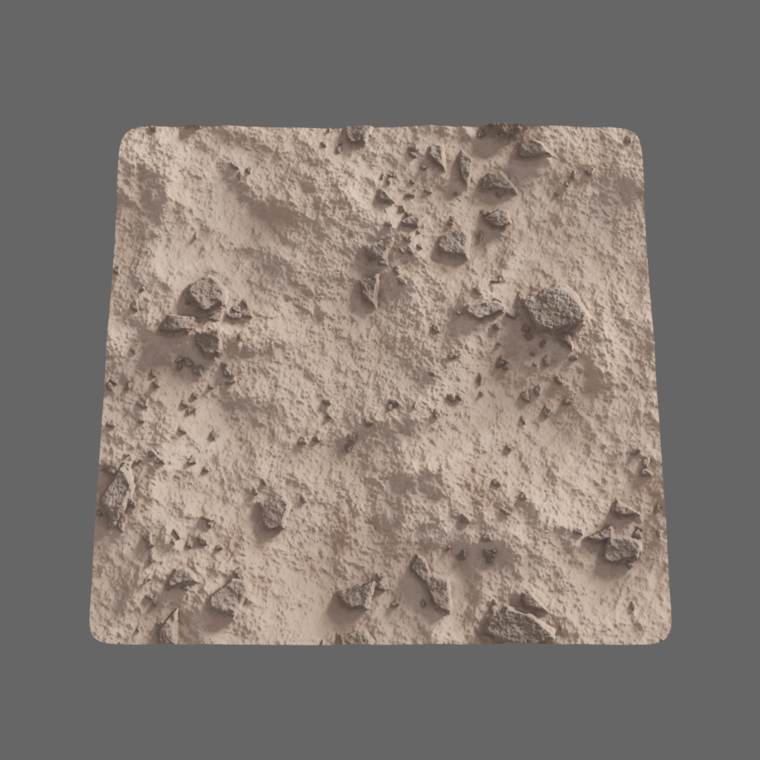 Desert ground plane render