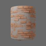 Stylized brick wall concrete render