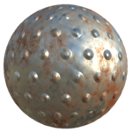 Rust metal with dots texture