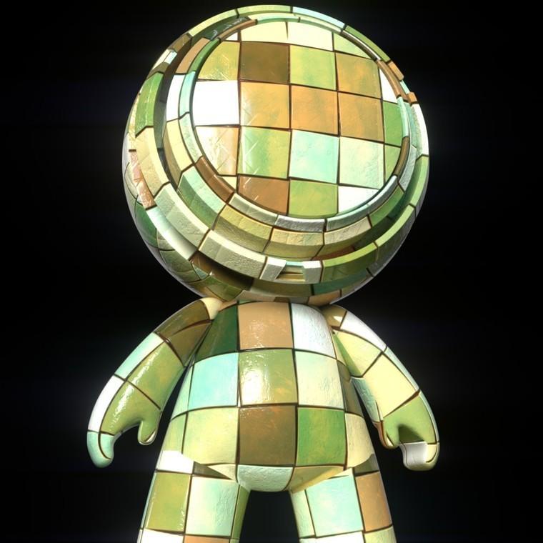 Mosaic tiles render 1