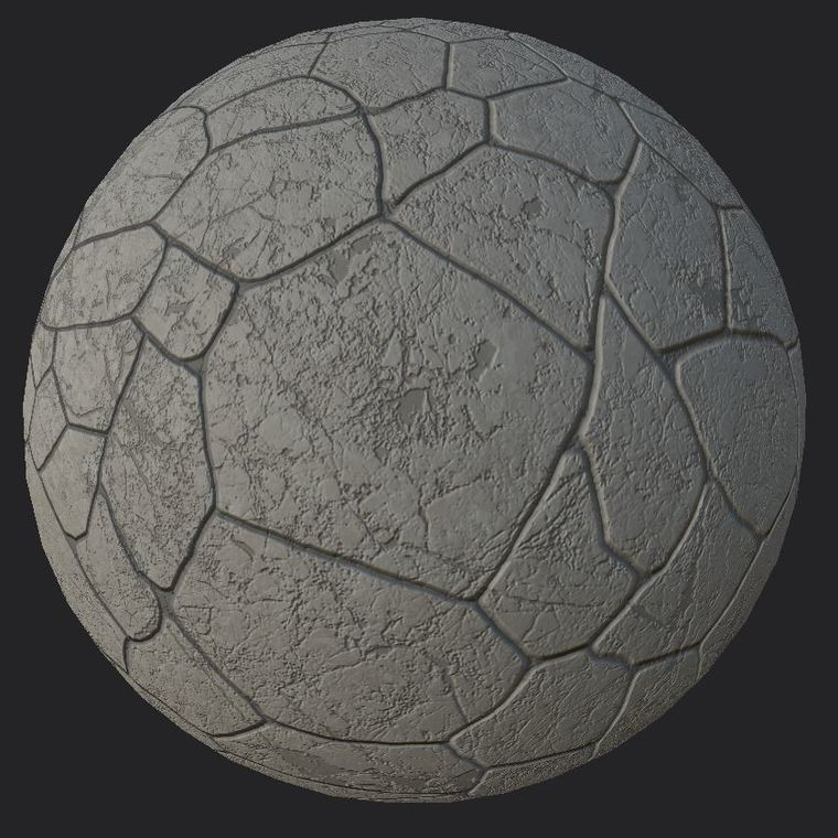 Cobblestone sphere