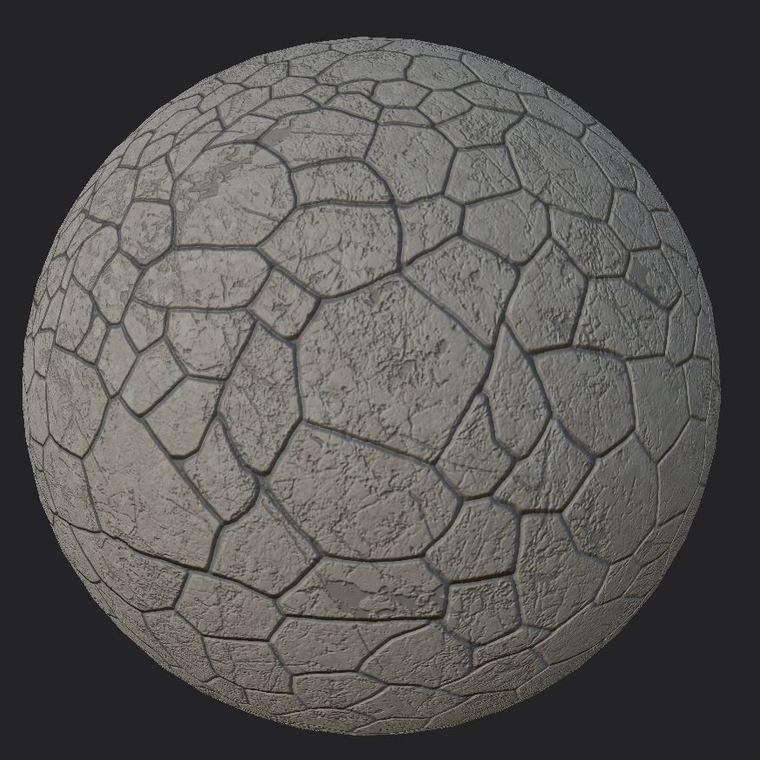 Cobblestone sphere tiled