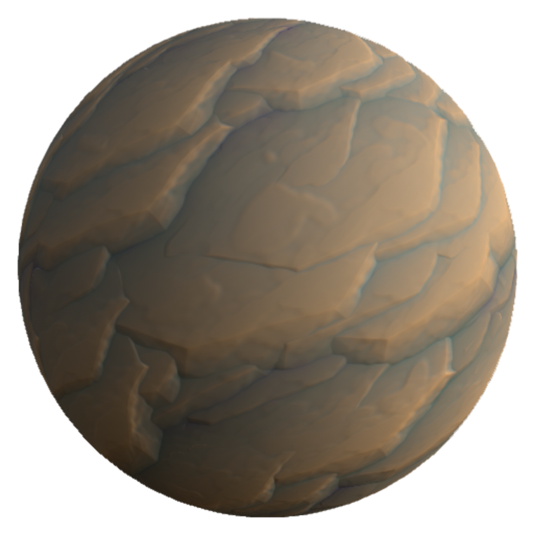 3dex stylized layeredrock