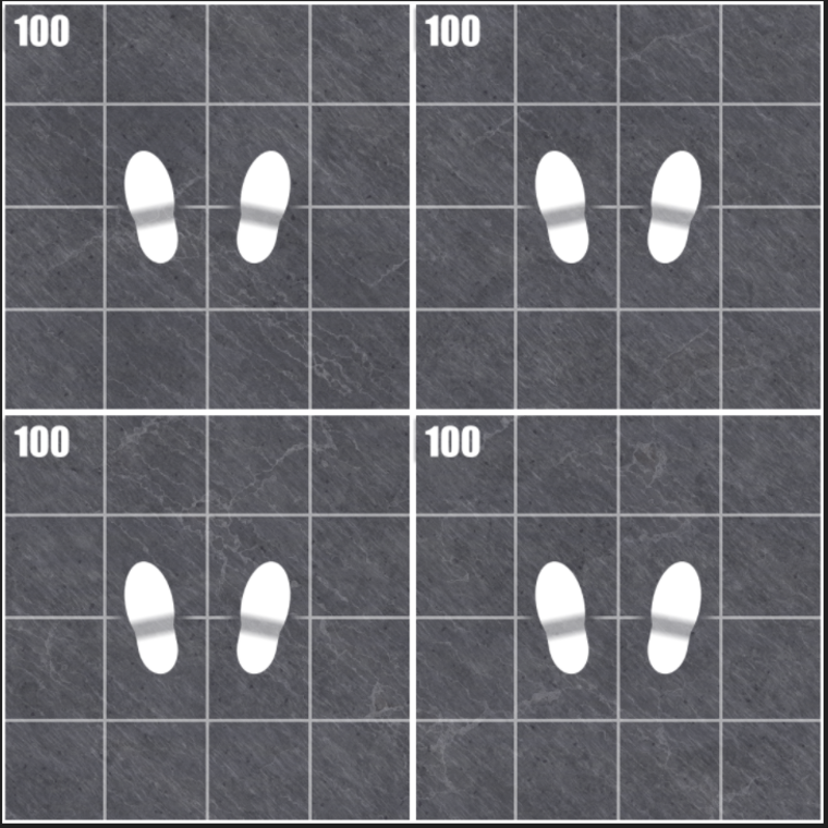 Scale checker footstep