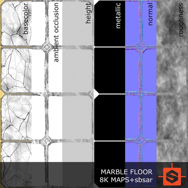 Michal petrik pbr marble floor texture 0005