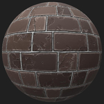 Pbr wall brick old texture 0001