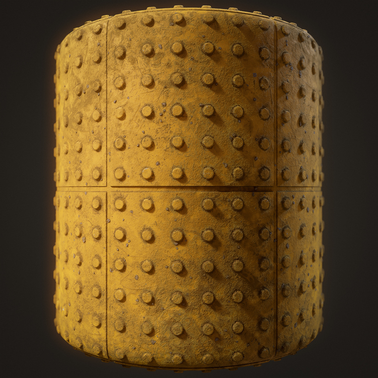 Tactile paving cylinder