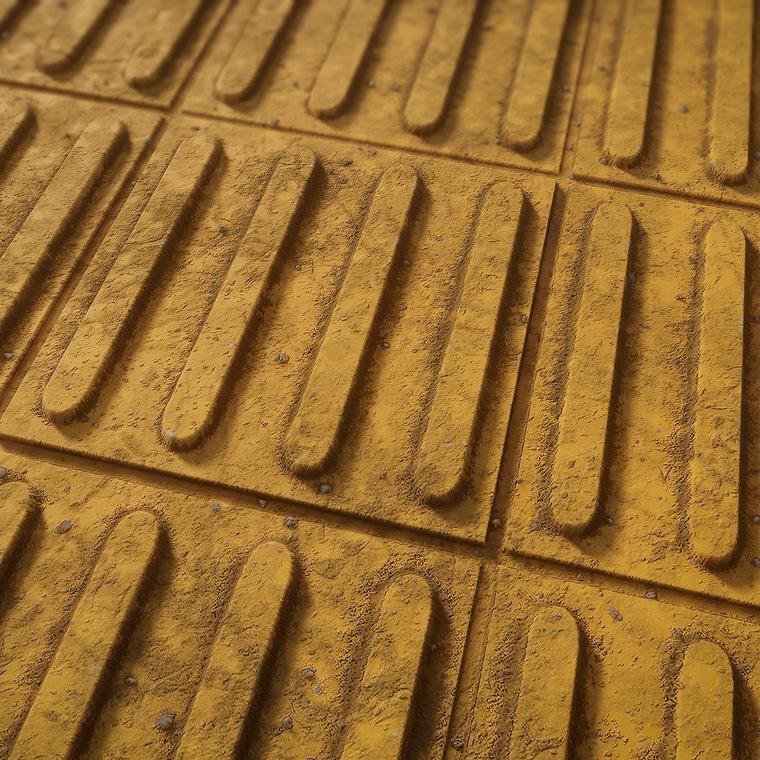 Tactile paving floor