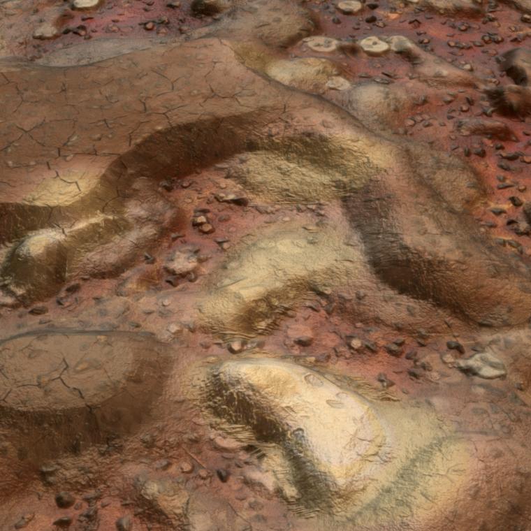 Natural rock path