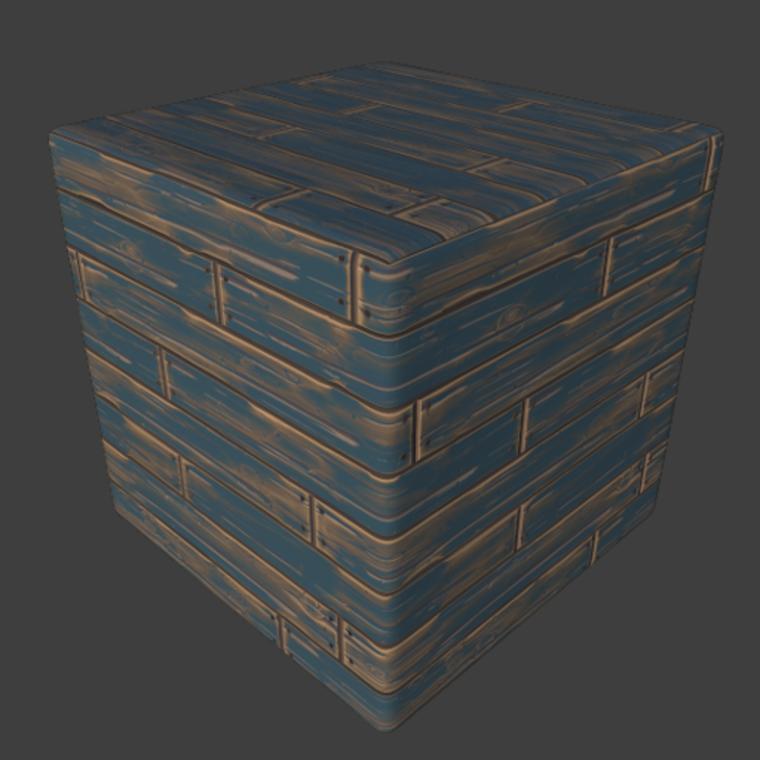 Wood stilized plank 03