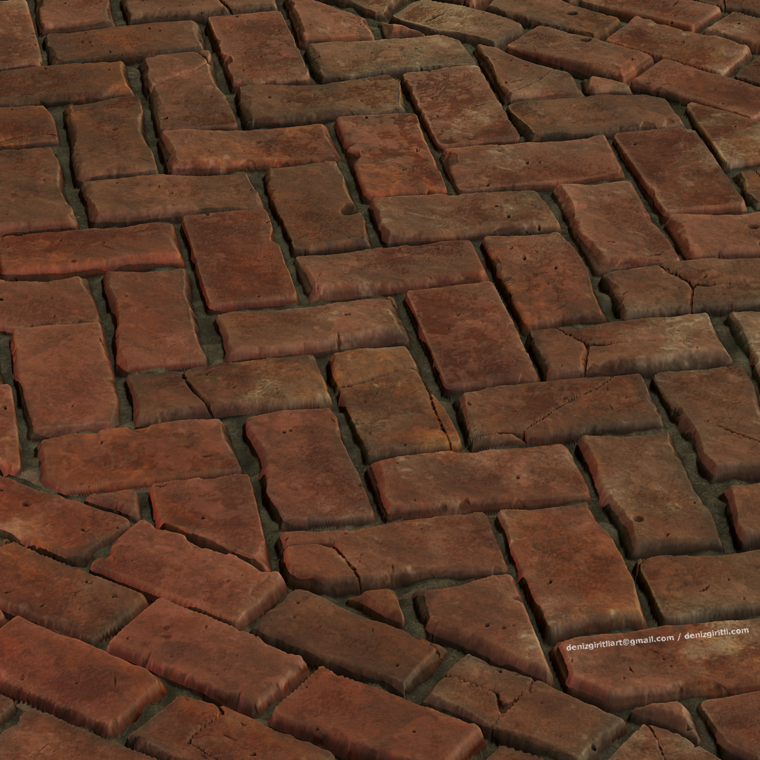 Brick pavement final render 03