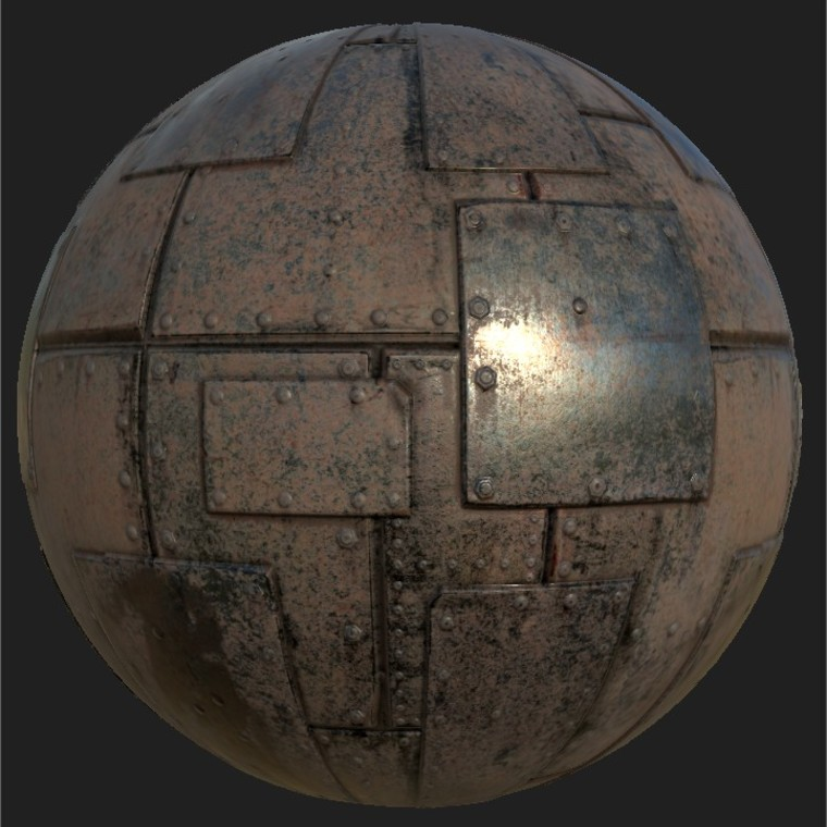 Substance player 2019.1   metal iron plates.sbsar