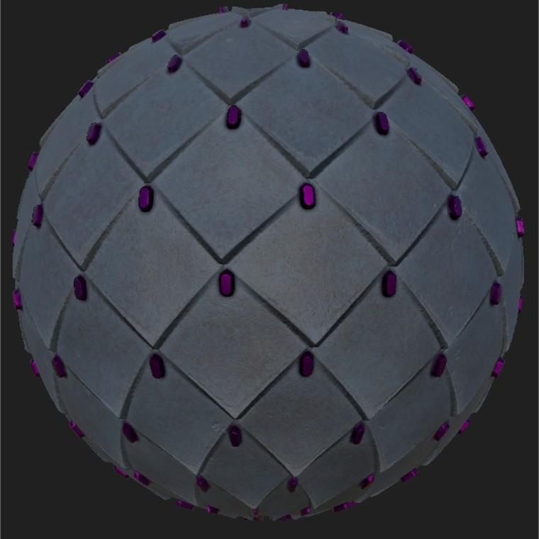 Substance player 2019.1   leather diamond armor blue.sbsar