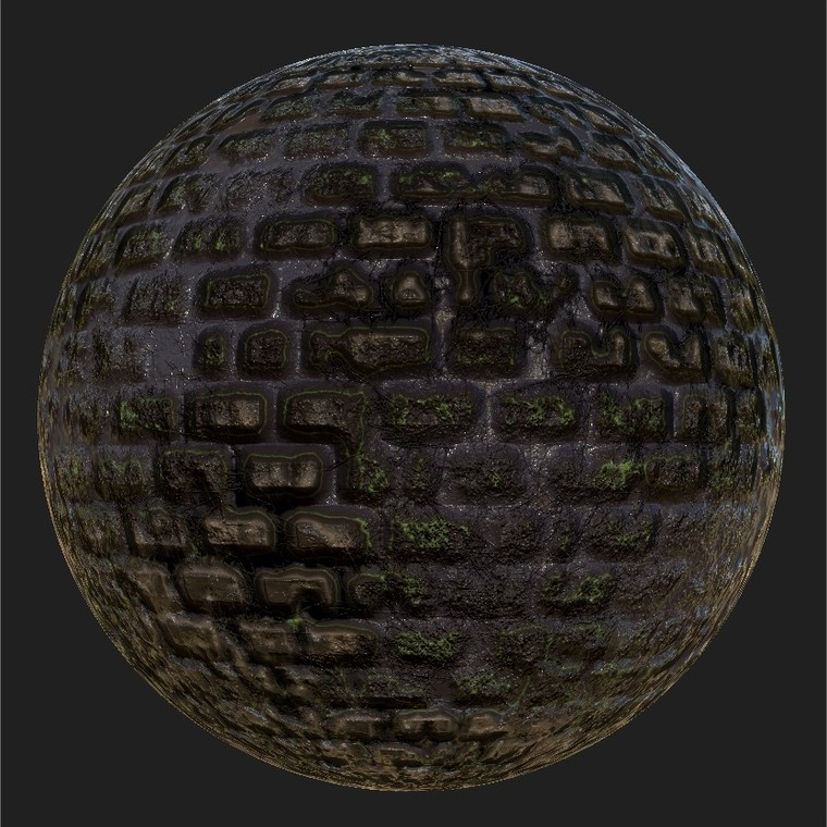 Substance player 2019.1   mossy wall 4 .sbsar