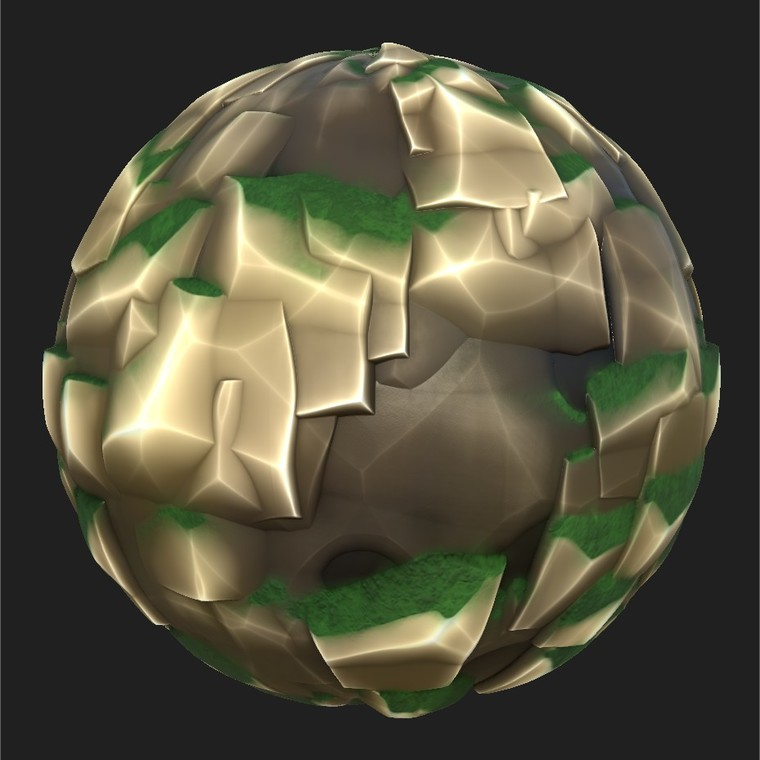 Substance player 2019.1   stylised rock.sbsar