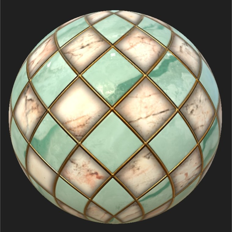 Substance player 2019.1   marble checker 001.sbsar