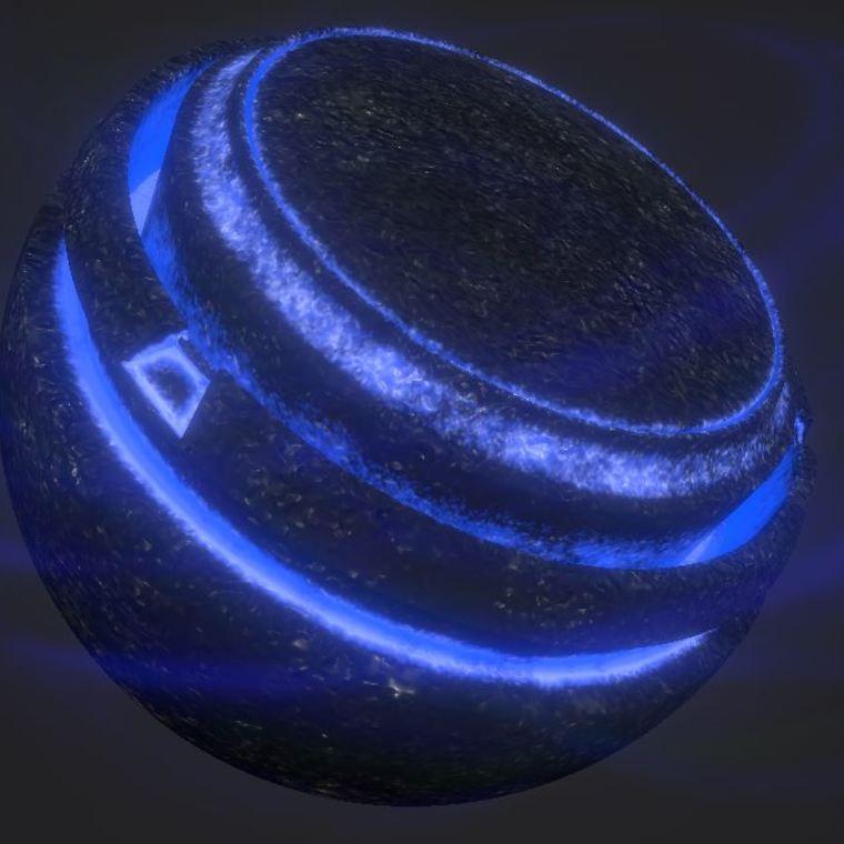 Coal illumination blue