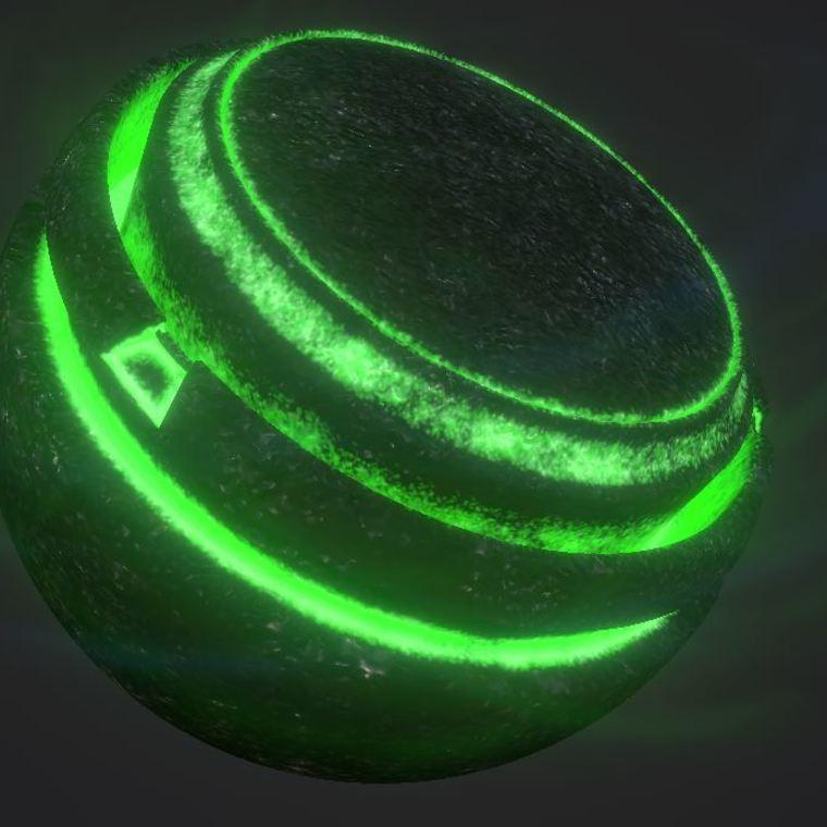 Coal illumination green