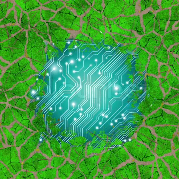 Cyberpunk nature base color