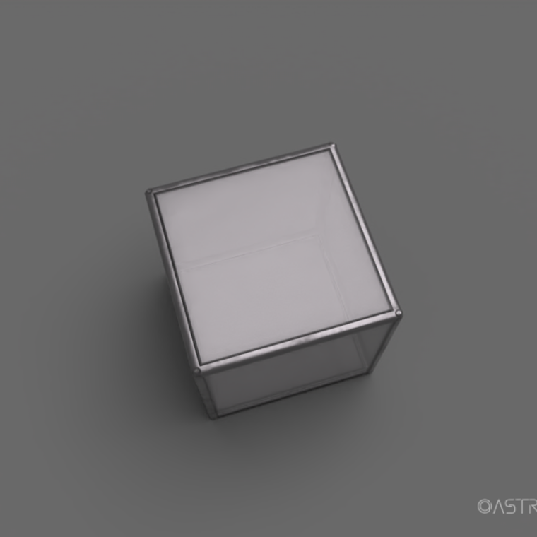 Glass material render 2