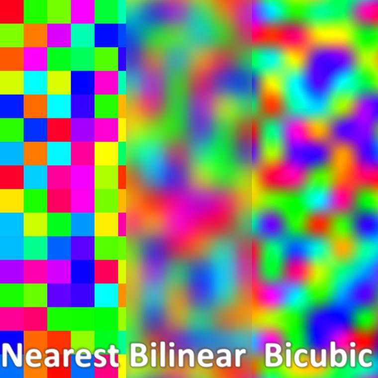 Bicubic interpolation example