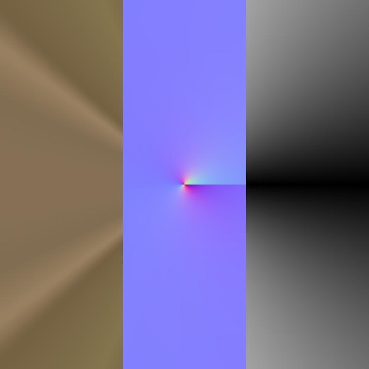 Cartesian to polar material output