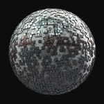 Vignette mirror ball